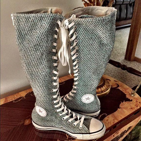 calf high converse shoes