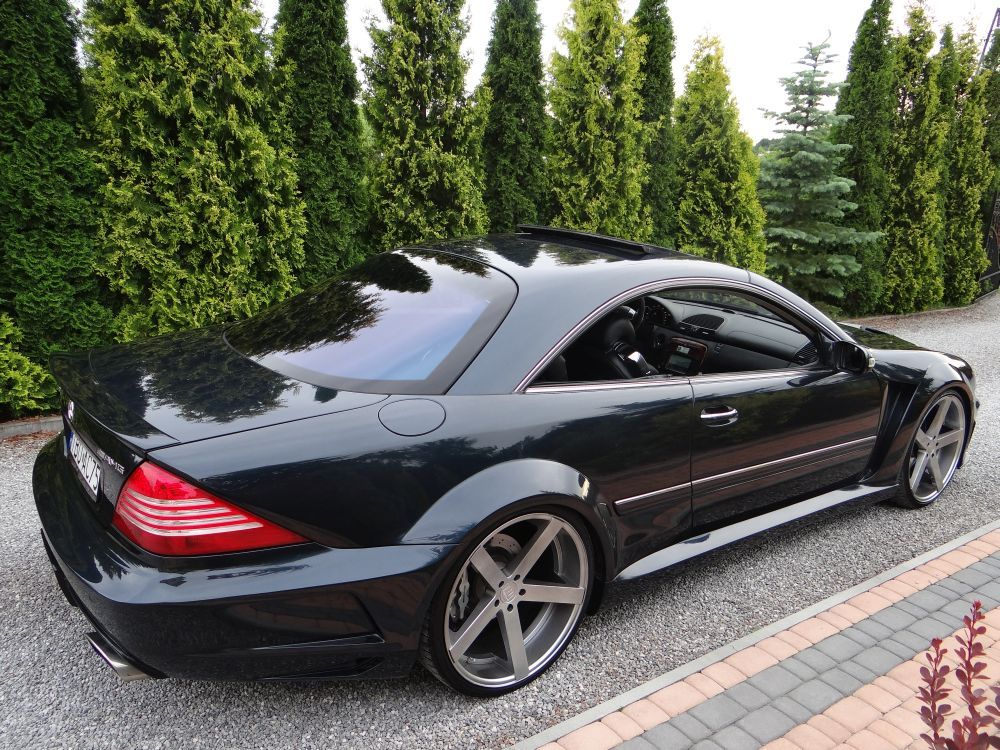 piekny merc cl 55 amg black series rohana 22 voitures mercedes pinterest voiture mercedes. Black Bedroom Furniture Sets. Home Design Ideas