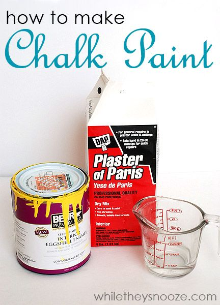 While They Snooze How To Make Chalk Paint 2 Cups Of