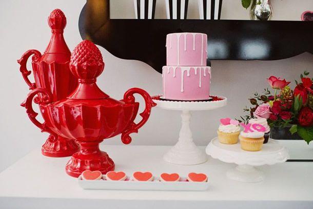 festa lolita, festa chá de lingerie, festa chá bar, noivado, corações, valentines party, lolita party
