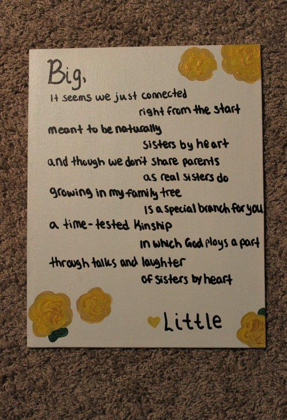 Sorority little sister poems