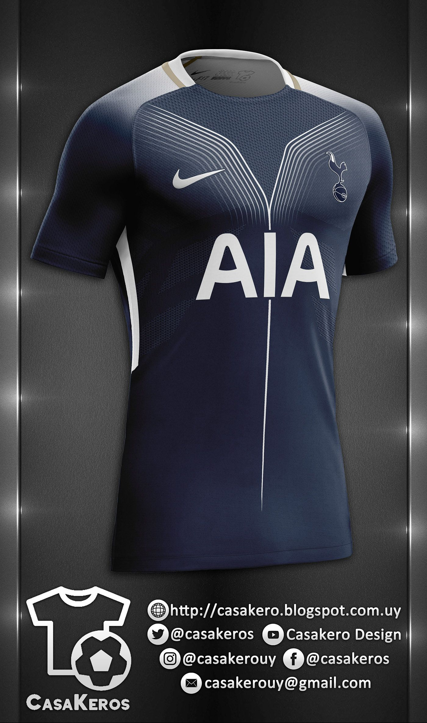 75b7d654358 TOTTENHAM HOTSPU FANTASY KIT    TEMPLATE DOWNLOAD on Behance ...