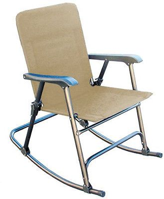 Fold Up Rocking Chair Portable Rock Rest Relax Stow Indoor/Out Folding RV  Patio