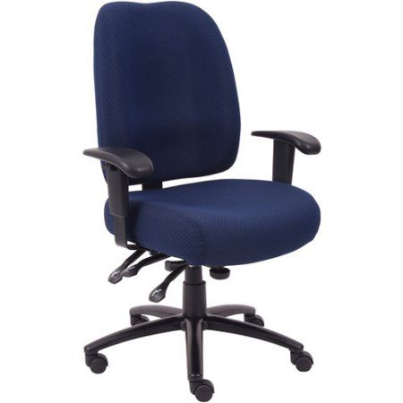 Boss Office Products Dido Multi-Function 3-Paddle Task Chair, Blue
