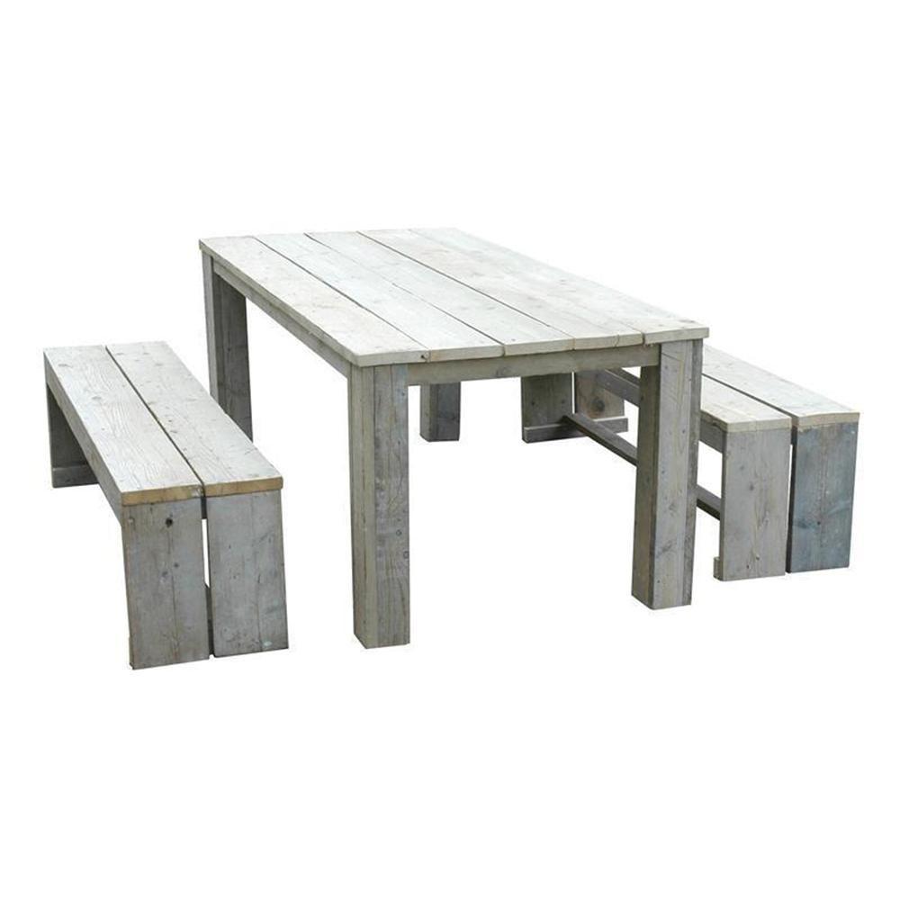 Bauholz Möbel Gartenmöbel Esstisch Lounge Set 3tlg.Tisch 200cm und ...