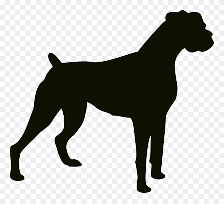 Download Hd Boxer Dog Clipart Boxer Dog Silhouette Png Download And Use The Free Clipart For Your Creative Proj Dog Silhouette Animal Silhouette Dog Sketch