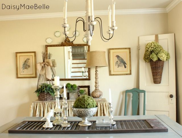 After Christmas Decorations are Down in the Dining Room | Glass ...