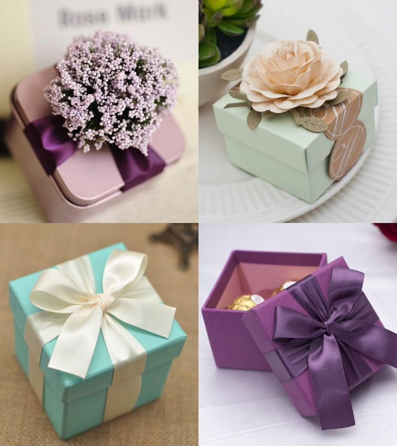 Wedding Gifts Ideas Purple FavorsChocolate