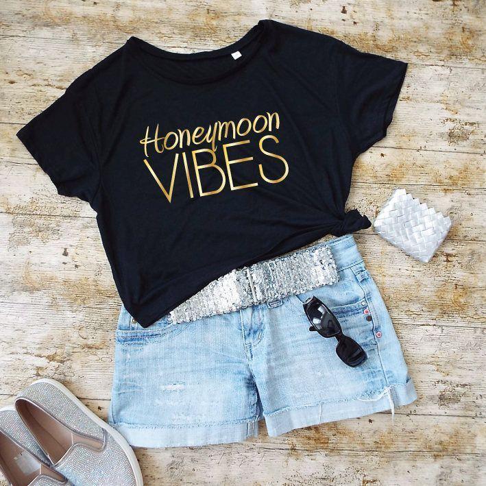 Honeymoon Vibes Shirt. Cropped Tee. Honeymoon Shirt. Honeymoon Clothes. Cropped …
