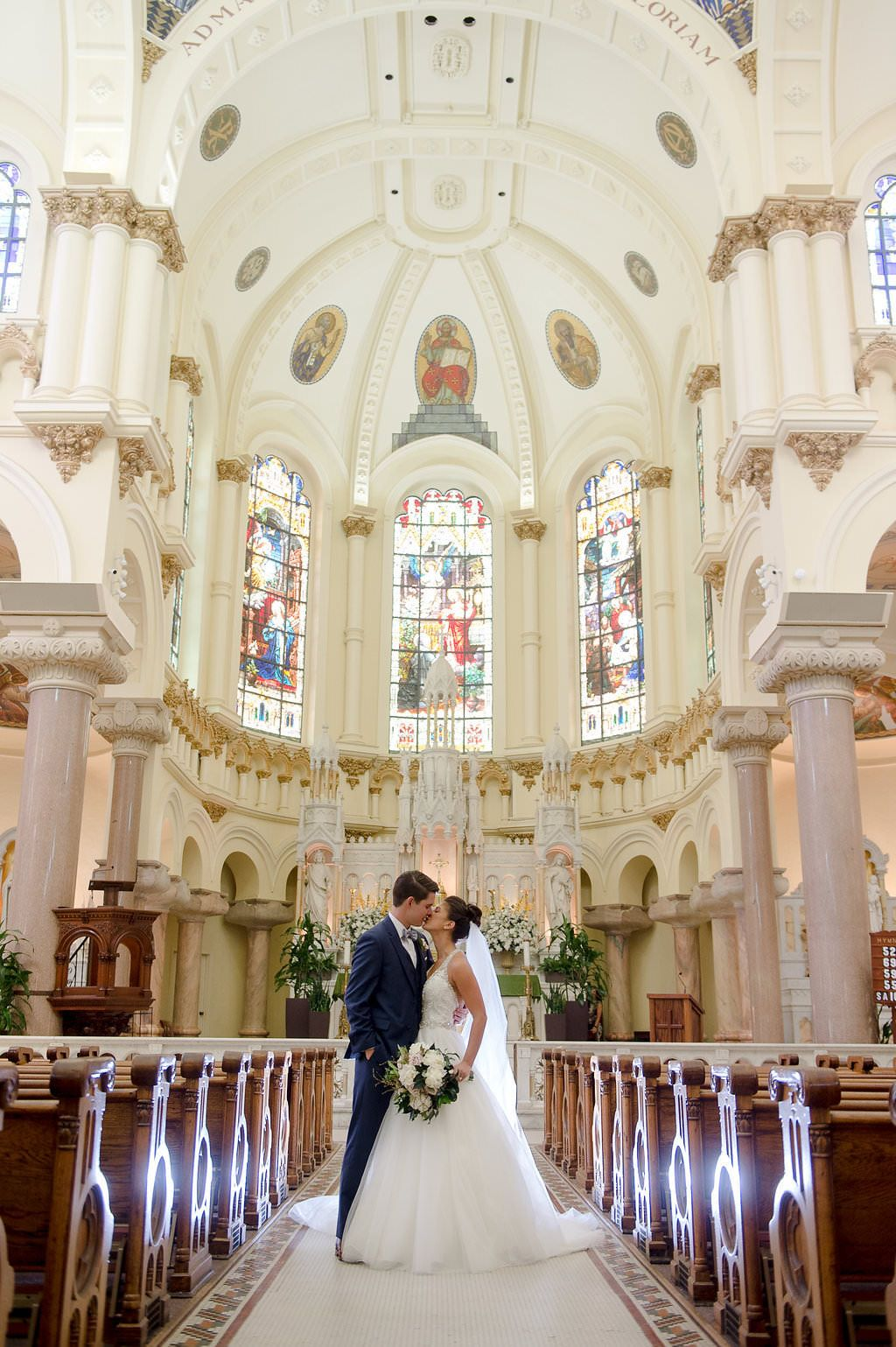 Green and White South Tampa Wedding Church wedding