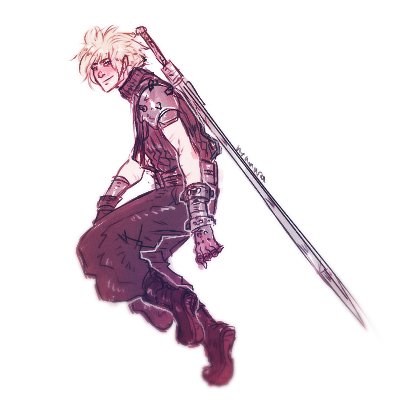 Cloud Strife Final Fantasy Vii Fan Art By Thefatedmeeting On Tumblr Xenoblade Chronicles Final Fantasy Vii Cloud Strife
