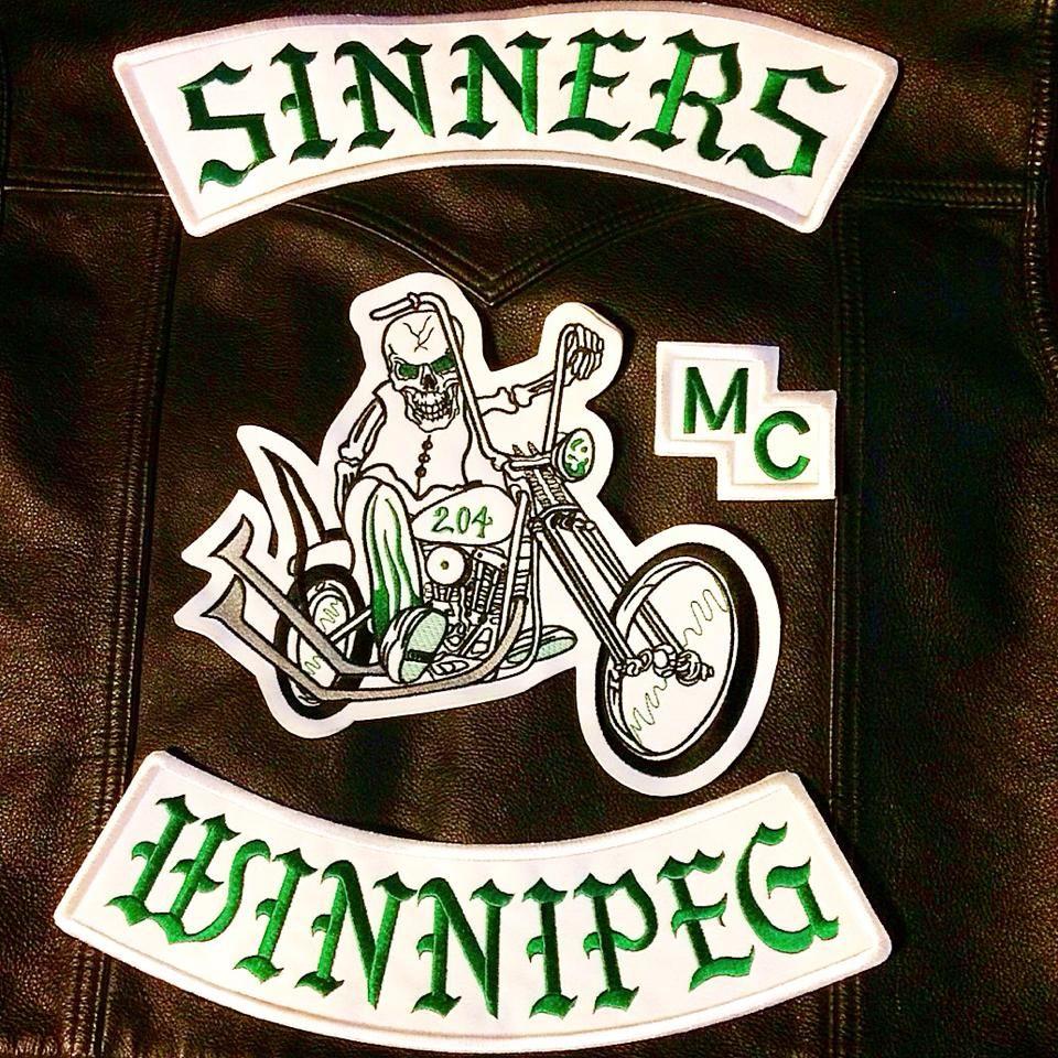 SINNERS  WINNIPEG  MC | best stuff | Motorcycle clubs, Biker