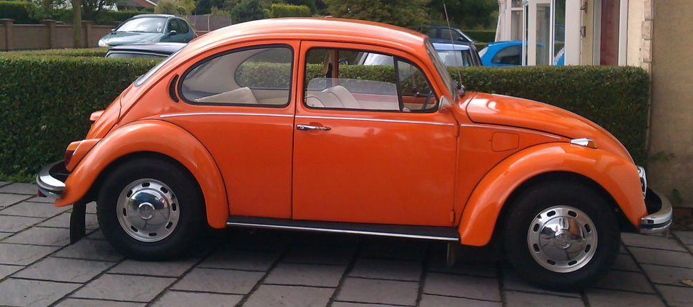 1974 Volkswagen 1200 Beetle Orange Volkswagen Vw Super Beetle Beetle
