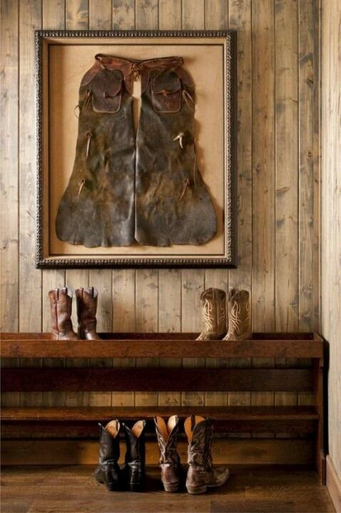Create a shadowbox or frame your old chaps Stylish Western Home