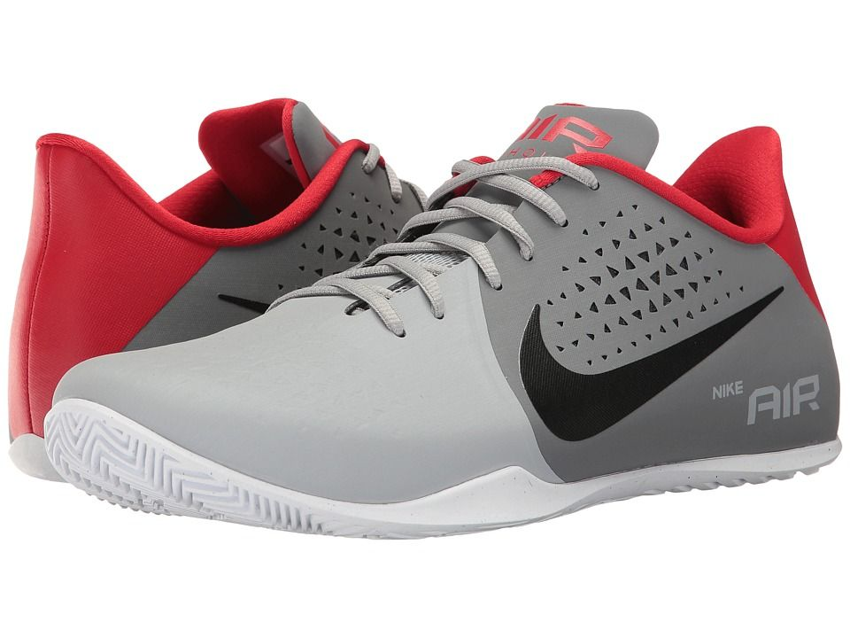 NIKE NIKE - AIR BEHOLD LOW (COOL GREY BLACK WOLF GREY UNIVERSITY RED) MEN S  BASKETBALL SHOES.  nike  shoes   7e76ff4fdc0a1