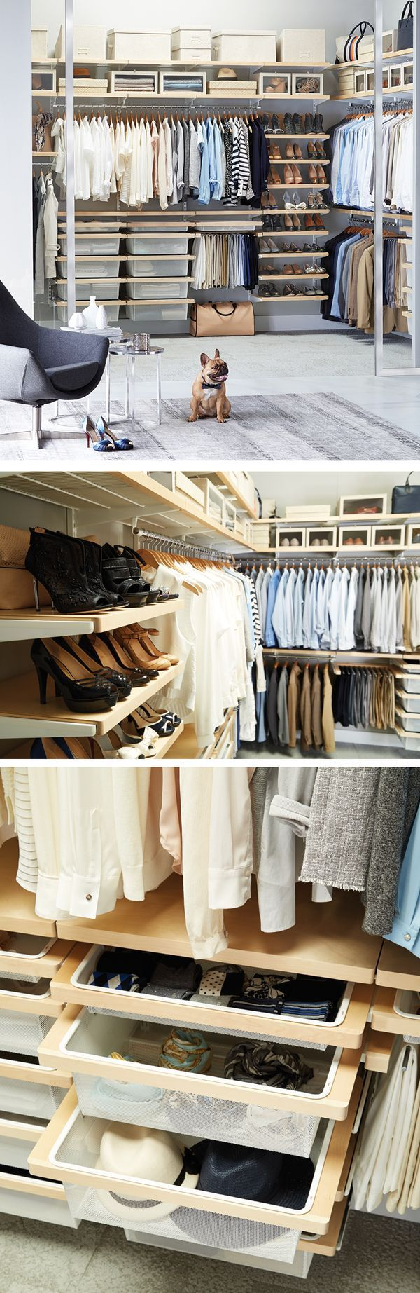 Walk In To Wonderful With Elfa Elfa Closet Pinterest Dressing