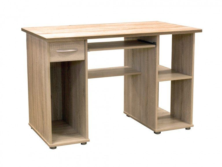 Woodland Open Computer Workstation In Oak Oak Computer Desk