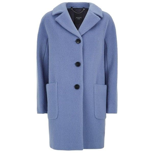 Maxmara Weekend Piombo Mohair Cocoon Coat 525 Liked On Polyvore Featuring Outerwear Coats Weekend Max Mara Cocoon Coat Mohair Coat And Blue Coat