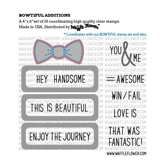 Bowtiful Additions Stamp Set Examples