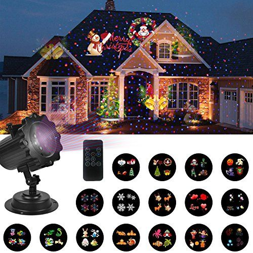 UNIFUN Christmas Decorations Lights Projector with Red Blue Star 16