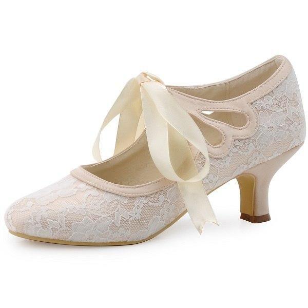 13b58de533c3 Elegantpark Women Wedding Shoes Mary Jane Heel Bride Prom Party Pumps