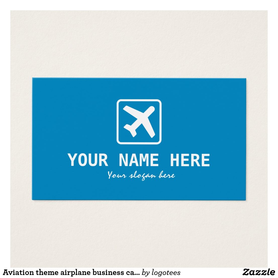 Aviation Theme Airplane Business Card Template Zazzle Com