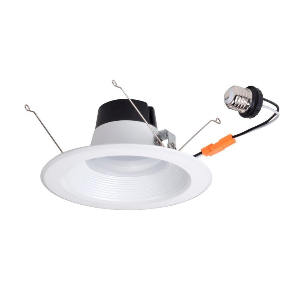 Globe Electric 5-6 in. Energy Star White Integrated LED Retrofit Recessed Light Kit (6-Pack)