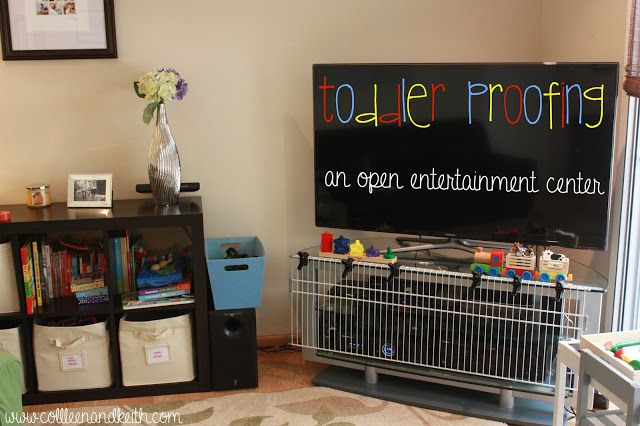How To Childproofed An Open Entertainment Center Future
