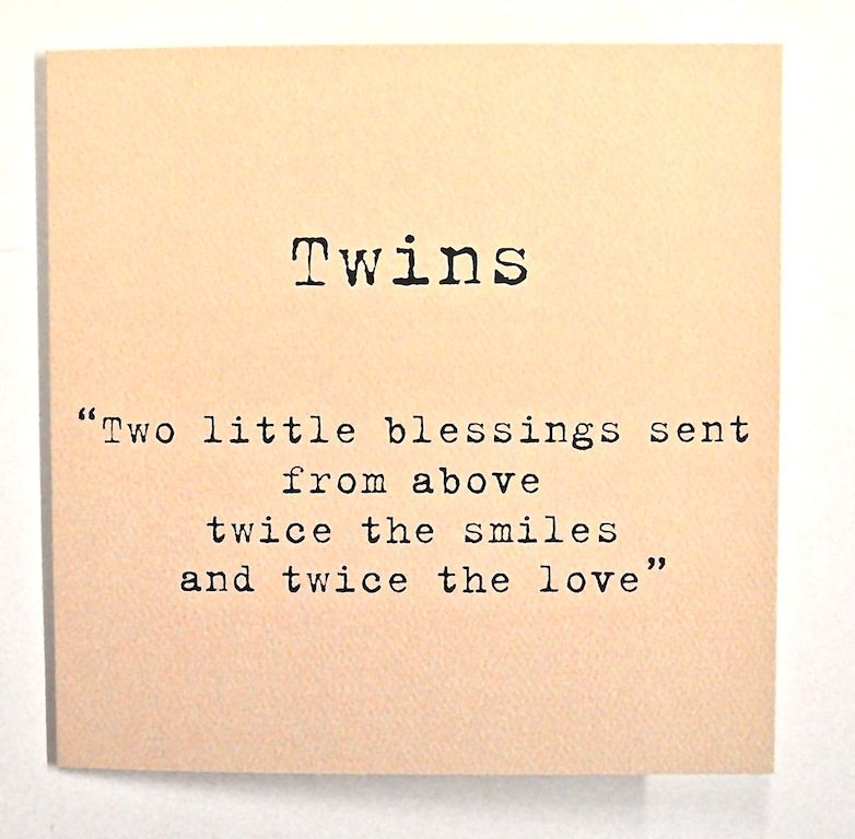 Twins Two Little Blessings Card Peach Twin Quotes Twins