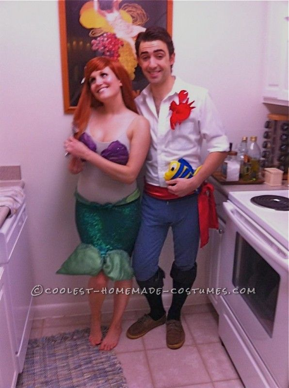 Best Little Mermaid and Eric Couple Halloween Costume | Couple ...