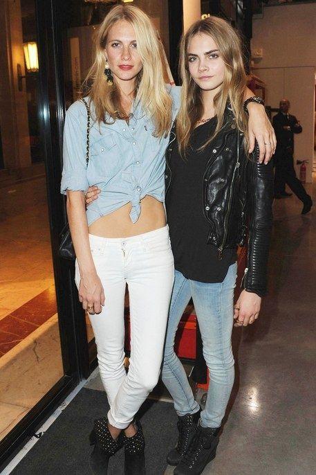 Poppy and Cara Delevigne