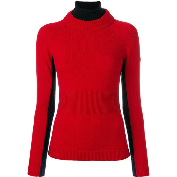 Moncler Grenoble bicolour jumper (3,125 CNY) found on Polyvore featuring women's fashion, tops