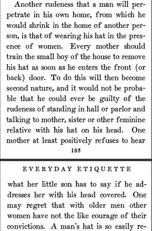 One paragraph quoted from the 1905 publication: Everyday