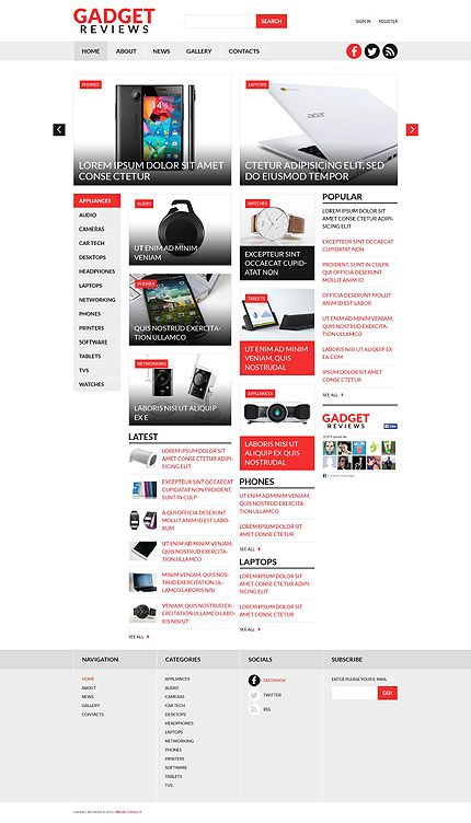 Gadget Review Sites #Joomla #template #themes #business #responsive