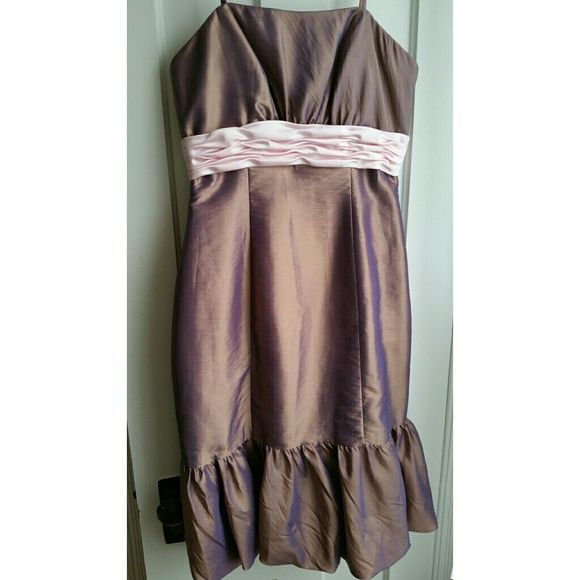 CLOSET CLEAN OUT  !size 10 impression taffeta Brand new size 10 impression brand taffeta pink and purple dress never been worn beautiful mint condition ready to wear off the hanger impression  Dresses