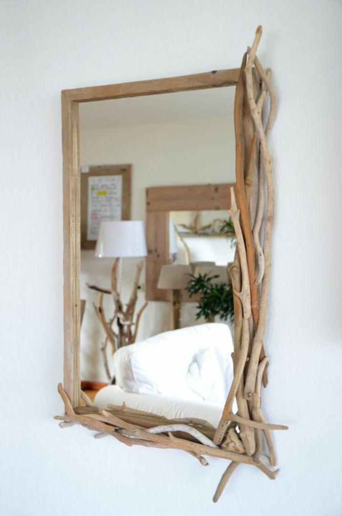 Maritimer Spiegel Basteln Sommerdeko Treibholz Mit Holzkleber Kleben