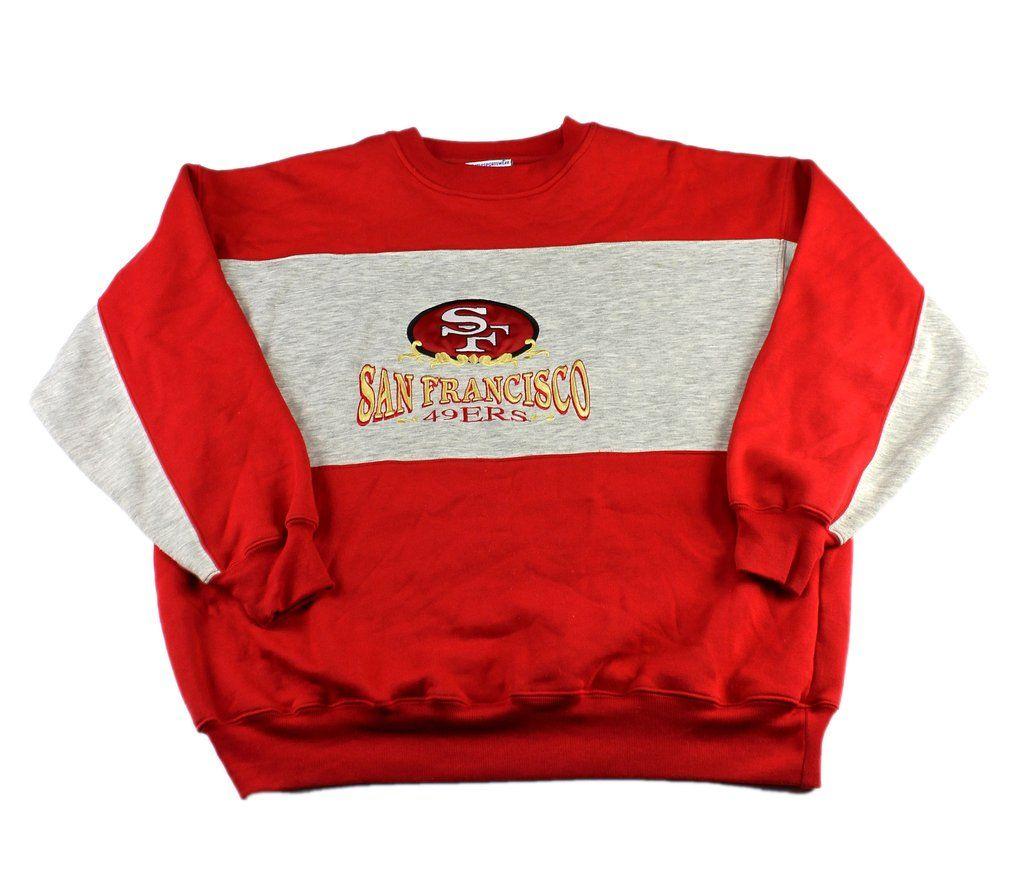 Vintage 90s San Francisco 49ers Embroidered Crewneck Sweatshirt Mens Size Large