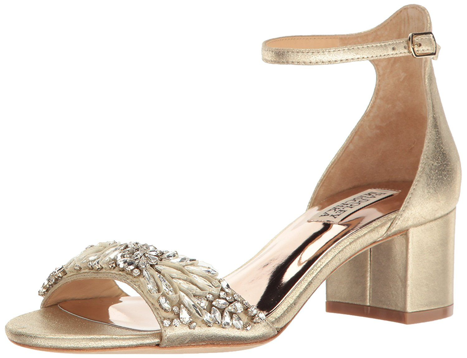 c86d16b85e84b Amazon.com: Badgley Mischka Women's Tamara Dress Sandal, Platino ...