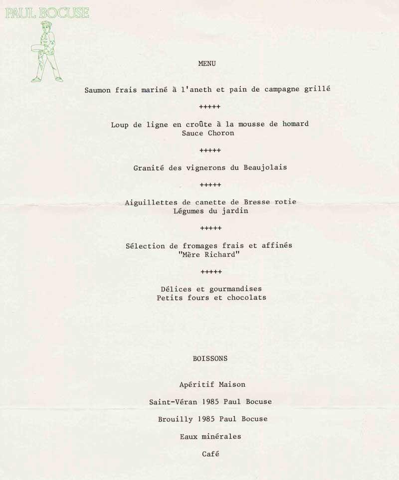 Bocuse Collonges Menus Pinterest Cuisine Menu And Food - Cours de cuisine bocuse