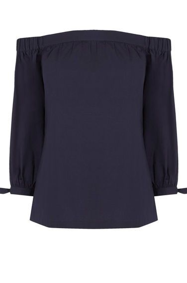 Warehouse, Cotton Off The Shoulder Top NAVY £32 - WAREHOUSE