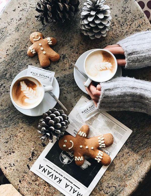 Romantische Winterstimmung wenige Tage vor Weihnachten Mein gemütlicher Rückzug