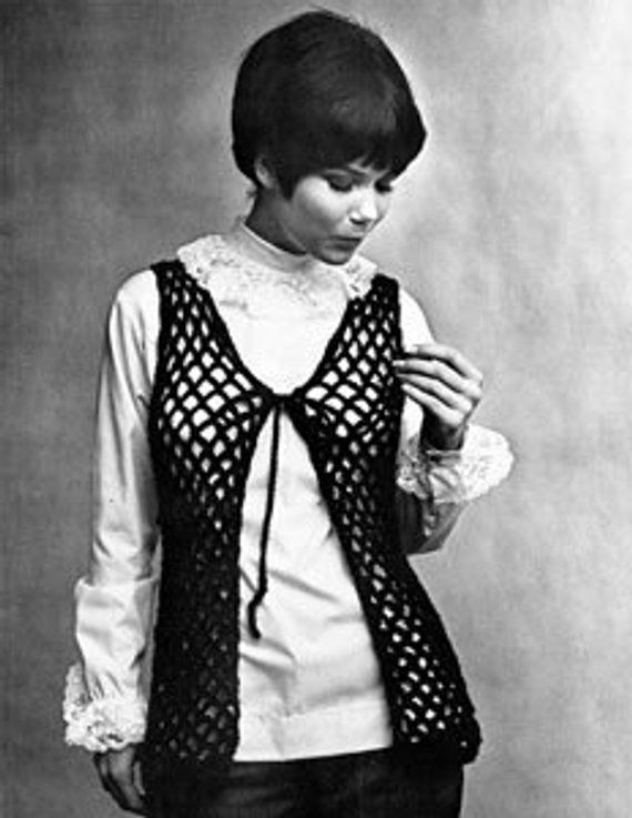 Vintage Crochet Vest Pattern Pack Of 2 Patterns Products