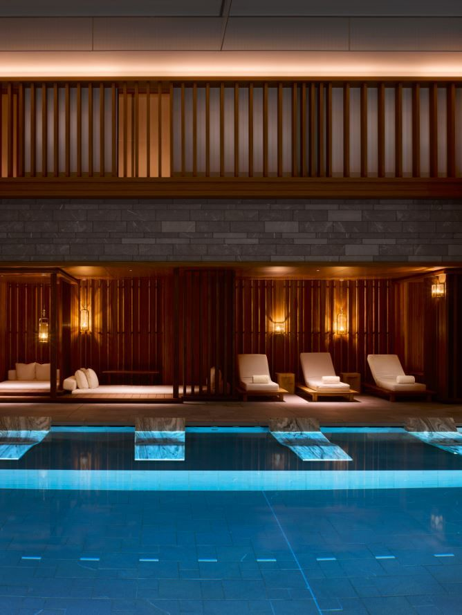 Pool at the four seasons kyoto by hba design four for Design hotel kyoto