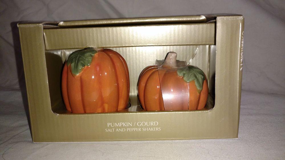 NEW JACLYN SMITH Pumpkin / Gourd SALT & PEPPER SHAKER SET   Jaclyn ...