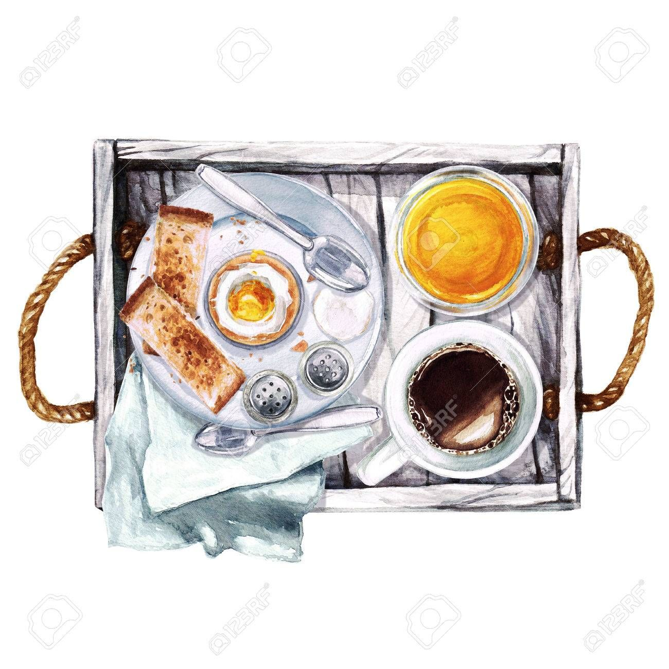 Breakfast Watercolor Illustration Affiliate Breakfast Watercolor Illustration Anime Nghệ Thuật Thức ăn