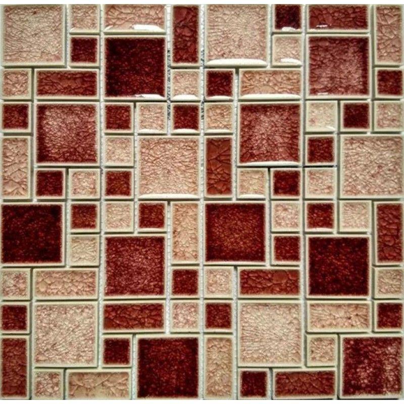 Crackle Glass Mosaic Wall Tile Glossy Mosaic Red Peach Cheap Backsplash Tiles Mosaic Wall Tiles Cheap Backsplash Tile Red Kitchen Walls
