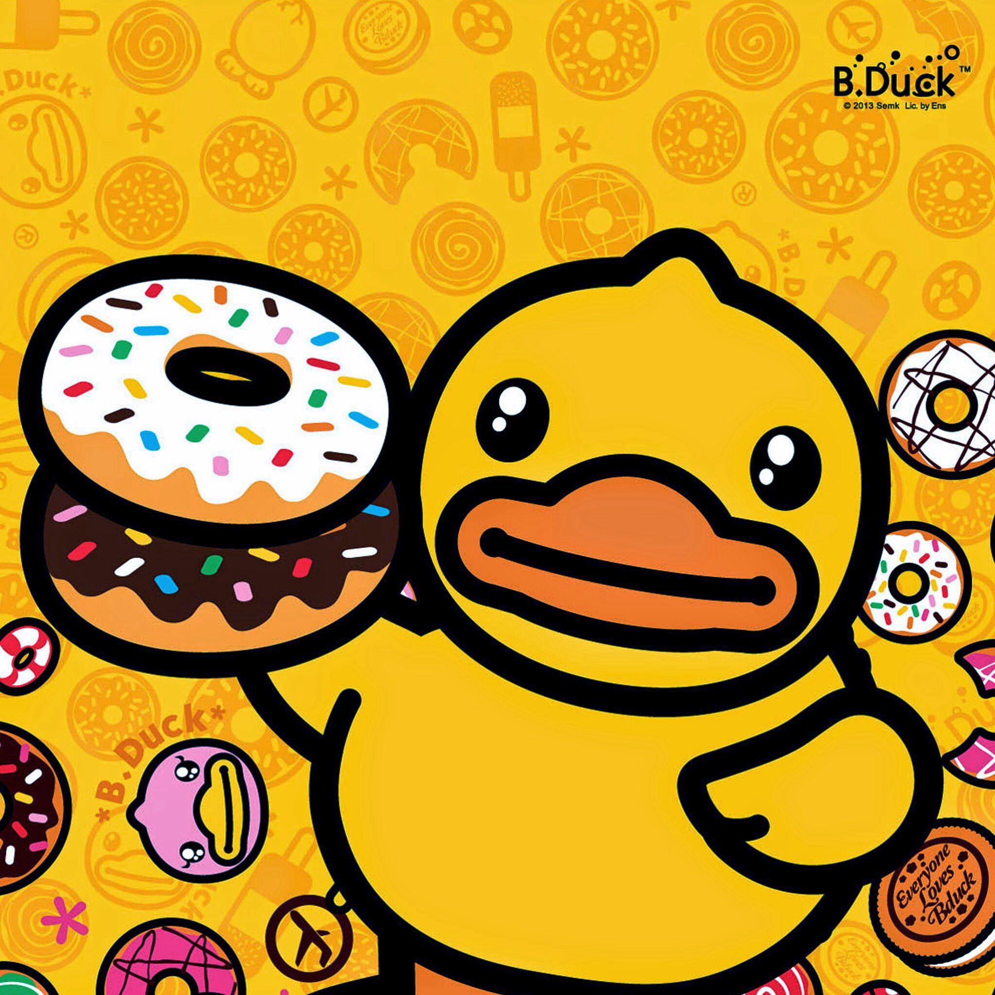 B Duck Rubber Duck Cartoon Characters Duck