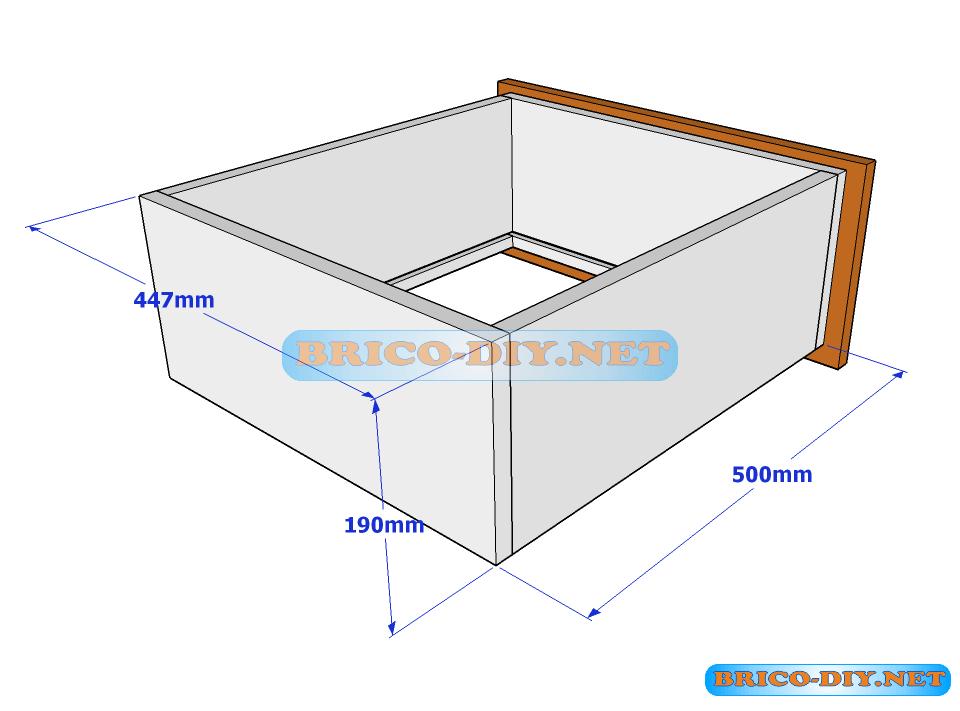 Plano y medidas de c mo hacer una comoda de melamina con for Planos para muebles de cocina en melamina