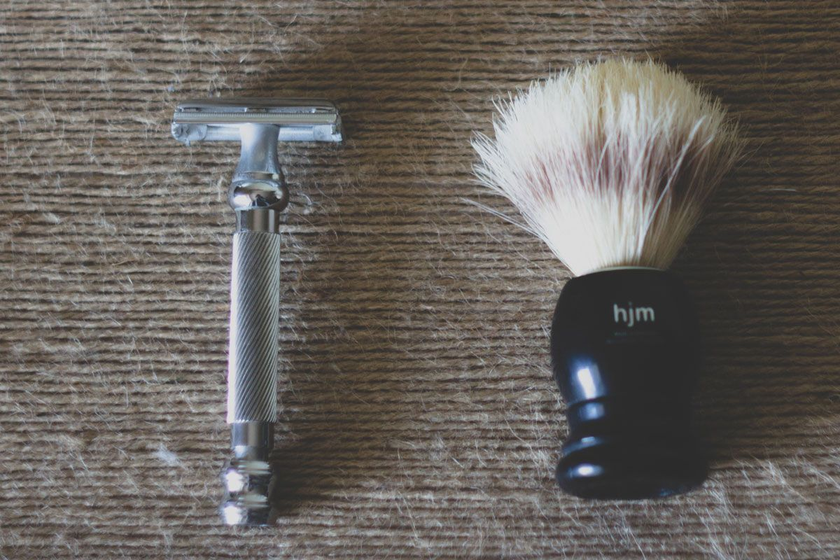how to line up beard with safety razor