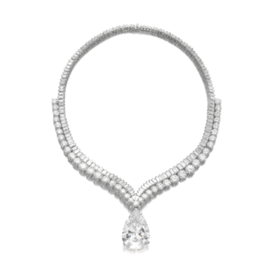 Highly important diamond necklace - pendant of 41.40 ct.-Sotheby's